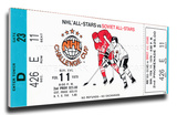 1979 NHL All-Star Challenge Cup Mega Ticket - Madison Square Garden Stretched Canvas Print