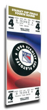 1994 NHL Stanley Cup Mega Ticket - New York Rangers Stretched Canvas Print