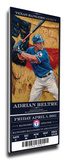 Adrian Beltre Artist Series Mega Ticket - Texas Rangers Stretched Canvas Print