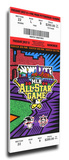 2006 MLB All-Star Game Mega Ticket, Pirates Host - MVP Michael Young, Rangers Stretched Canvas Print