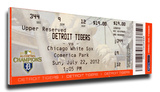 Miguel Cabrera 300 Home Run Mega Ticket - Detroit Tigers Stretched Canvas Print