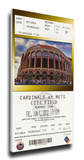 Johan Santana No Hitter Mega Ticket - New York Mets Stretched Canvas Print