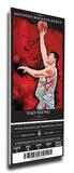 Yao Ming Artist Series Mega Ticket - Houston Rockets Stretched Canvas Print