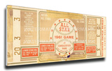 1961a MLB All-Star Game Mega Ticket - Giants Host - Candlestick Park Stretched Canvas Print