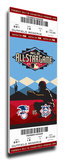 2011 MLB All-Star Game Mega Ticket - Diamondbacks Host - MVP Prince Fielder, Brewers Stretched Canvas Print