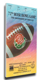 1986 Rose Bowl Mega Ticket - UCLA Bruins Stretched Canvas Print