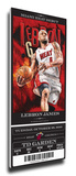 Lebron James Artist Series Mega Ticket - Miami Heat (Farano) Stretched Canvas Print