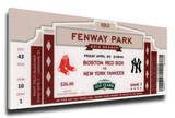 Fenway Park 100th Anniversary Game Mega Ticket - Boston Red Sox Stretched Canvas Print