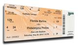 Roy Halladay Perfect Game Mega Ticket - Philadelphia Phillies Stretched Canvas Print