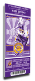 Kobe Bryant Artist Series Mega Ticket - Los Angeles Lakers (Speakman) Stretched Canvas Print