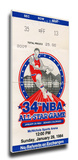 1984 NBA All-Star Game Mega Ticket, Nuggets Host - MVP Ralph Sampson, Rockets Stretched Canvas Print