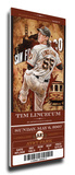 Tim Lincecum Artist Series Mega Ticket - San Francisco Giants Stretched Canvas Print