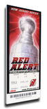 2012 NHL Stanley Cup Final Mega Ticket - New Jersey Devils Stretched Canvas Print