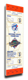 1992 World Series Mega Ticket - Toronto Blue Jays Stretched Canvas Print