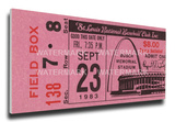 Steve Carlton 300 Win Mega Ticket - Phillies, Cardinals Stretched Canvas Print