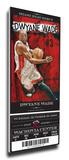 Dwyane Wade Artist Series Mega Ticket - Miami Heat Stretched Canvas Print
