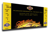 Milwaukee Brewers 2001 Opening Night / First Game at Miller Park Mega Ticket Stretched Canvas Print