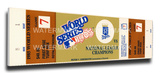 1985 World Series Mega Ticket - Kansas City Royals Stretched Canvas Print