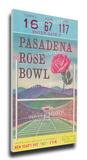 1963 Rose Bowl Mega Ticket - USC Trojans Stretched Canvas Print