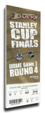 2007 NHL Stanley Cup Mega Ticket - Anaheim Ducks Stretched Canvas Print