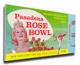 1967 Rose Bowl Mega Ticket - Purdue Boilermakers Stretched Canvas Print