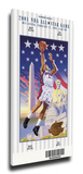 2001 NBA All-Star Game Mega Ticket, Wizards Host - MVP Alan Iverson, 76ers Stretched Canvas Print