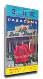 1964 Rose Bowl Mega Ticket - Illinois Fighting Illini Stretched Canvas Print