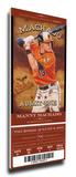 Manny Machado Artist Series Mega Ticket - Baltimore Orioles Stretched Canvas Print