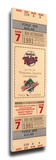 1991 World Series Mega Ticket - Minnesota Twins Stretched Canvas Print