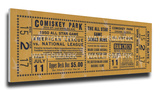 1950 MLB All-Star Game Mega Ticket - White Sox Host - Comiskey Park Stretched Canvas Print