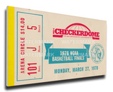 1978 NCAA Basketball Finals Mega Ticket - Kentucky Wildcats Stretched Canvas Print