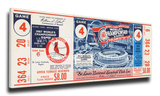1967 World Series Mega Ticket - St Louis Cardinals Stretched Canvas Print