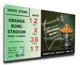 1969 Orange Bowl Mega Ticket - Penn State Nittany Lions Stretched Canvas Print