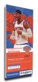 Carmelo Anthony Mega Ticket - New York Knicks Stretched Canvas Print