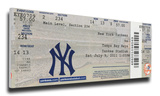 Derek Jeter 3,000 Hit Mega Ticket - New York Yankees Stretched Canvas Print
