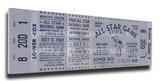 1960a MLB All-Star Game Mega Ticket - Athletics Host - Municipal Stadium Stretched Canvas Print