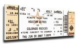 Craig Biggio 3,000 Hit Mega Ticket - Houston Astros Stretched Canvas Print