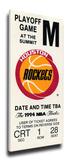 1994 NBA Finals Mega Ticket - Houston Rockets Stretched Canvas Print