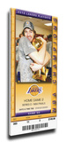 2010 NBA Finals Mega Ticket - Game 2, Gasol - Los Angeles Lakers Stretched Canvas Print