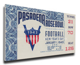 1943 Rose Bowl Mega Ticket - Georgia Bulldogs Stretched Canvas Print