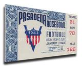 1943 Rose Bowl Mega Ticket - Georgia Bulldogs Stretched Canvas Print