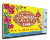 1966 Rose Bowl Mega Ticket - UCLA Bruins Stretched Canvas Print