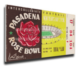 1957 Rose Bowl Mega Ticket - Iowa Hawkeyes Stretched Canvas Print