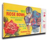 1972 Rose Bowl Mega Ticket - Stanford Indians Stretched Canvas Print
