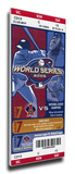 2002 World Series Mega Ticket - Anaheim Angels Stretched Canvas Print