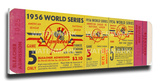 Don Larsen Perfect Game - 1956 World Series Mega Ticket  - Yankees Stretched Canvas Print