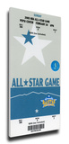 2005 NBA All-Star Game Mega Ticket, Nuggets Host - MVP Allen Iverson, 76ers Stretched Canvas Print