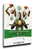 Garnett, Pierce, Allen First Game Together Mega Ticket - Boston Celtics Stretched Canvas Print