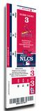 2013 NLCS Mega Ticket - St Louis Cardinals Stretched Canvas Print