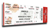 Jered Weaver No Hitter Mega Ticket - Los Angeles Angels Stretched Canvas Print